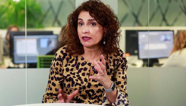 La ministra de Economía, María José Montero, durante una entrevista con EFE.