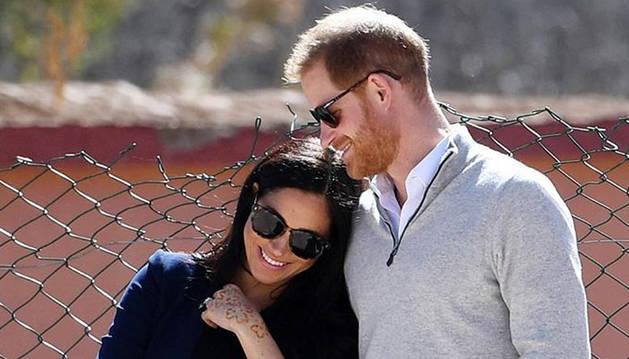 foto de Enrique y Meghan esperan el nacimiento de su primer hijo