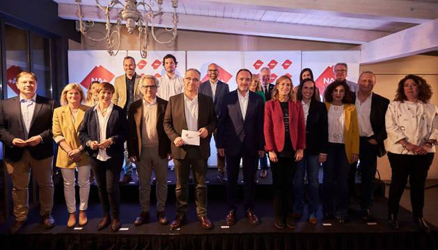 Presentación de la lista de Navarra Suma al Ayuntamiento de Pamplona.
