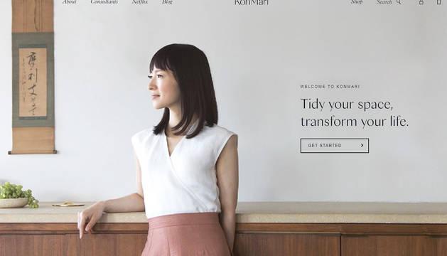 Marie Kondo, en una imagen de su página web.