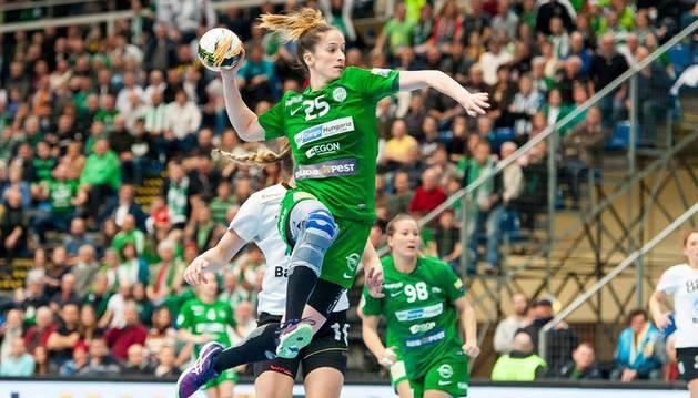 La pamplonesa Nerea Pena, en un partido con su actual club.