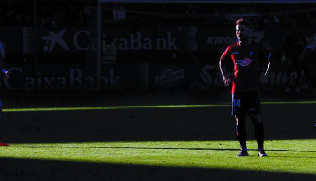 Rubén García, en un momento del partido que enfrentó a Osasuna el sábado contra el Deportivo de la Coruña.