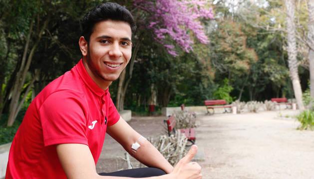 El delantero de 19 años, Mohamed Djellad, descansa en Cortes tras recibir este lunes el alta.