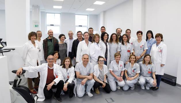Equipo que integra la nueva Unidad de Rehabilitación Cardiaca.