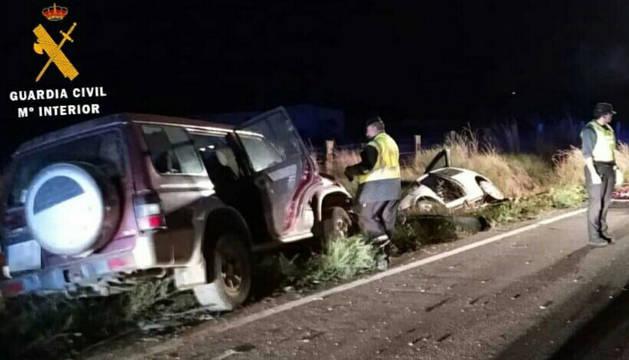 Un fallecido y dos heridos en un accidente de tráficoen Corella