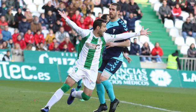 Miguel Flaño, el día de su debut con el Córdoba.