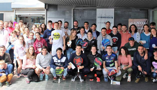 Cuadro de campeones de la tercera prueba del calendario del Circuito Diario de Navarra Absoluto de Pádel 2019.