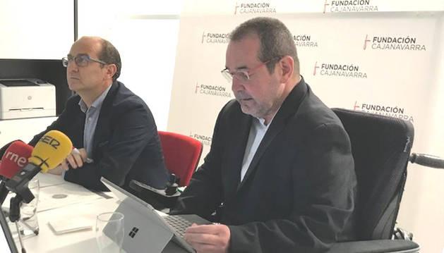 El presidente de Fundación Caja Navarra, Javier Miranda.