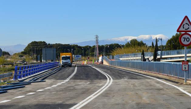 Puente de la carretera N-121-C entre Tudela y Tarazona.