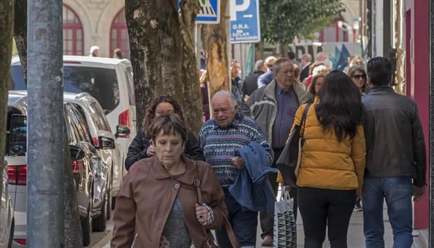 Foto de la calle San Andrés de Estella, cuya peatonalización se aborda en esta negociación del remanente.