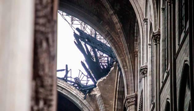 Imágenes del incendio en la catedral Notre Dame de París.