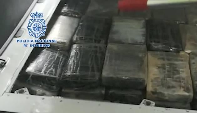 Imagen de la droga intervenida por la Policía Nacional en Atocha.