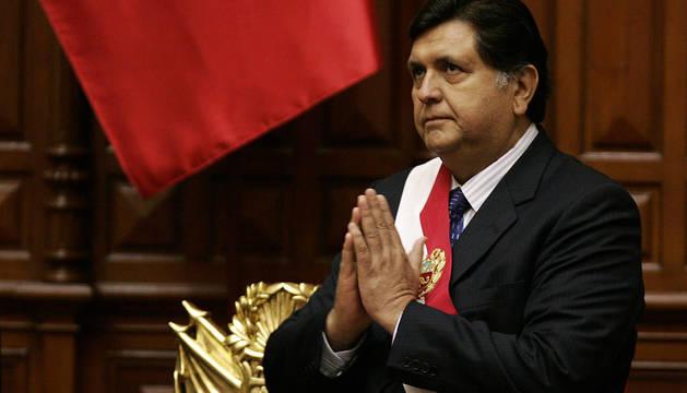El expresidente de Perú, Alan García, en 2007.