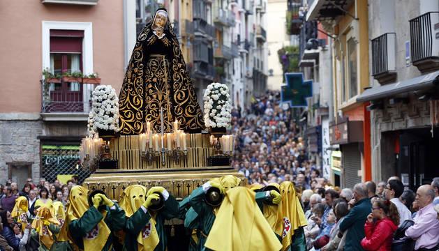 Fotos de los pasos de la procesión del Santo Entierro de Pamplona de 2019