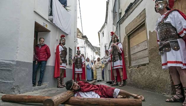 Fotos de la recreación de la Pasión viviente de Cristo en Andosilla