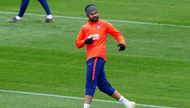 Diego Costa retoma los entrenamientos con normalidad un día después