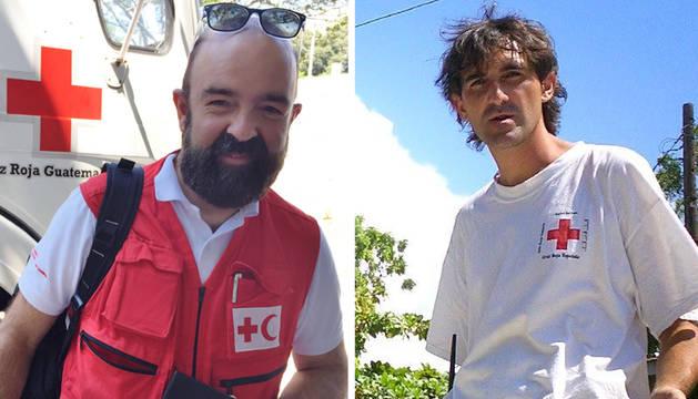Joaquín Mencos y Rafael Huarte, delegados de Cruz Roja de Navarra.