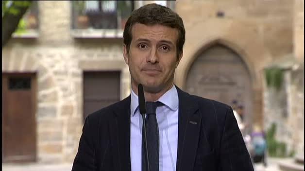 """Casado: """"Sánchez solo acierta cuando rectifica y da la cara"""""""
