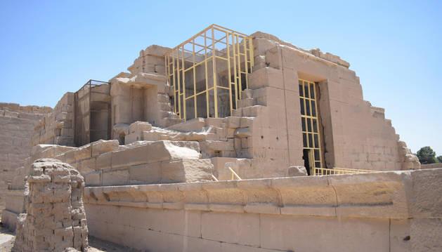 Imagen del templo de Opet en Luxor, Egipto.