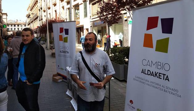 Ricardo Feliú, de Cambio-Aldaketa, en Tudela.