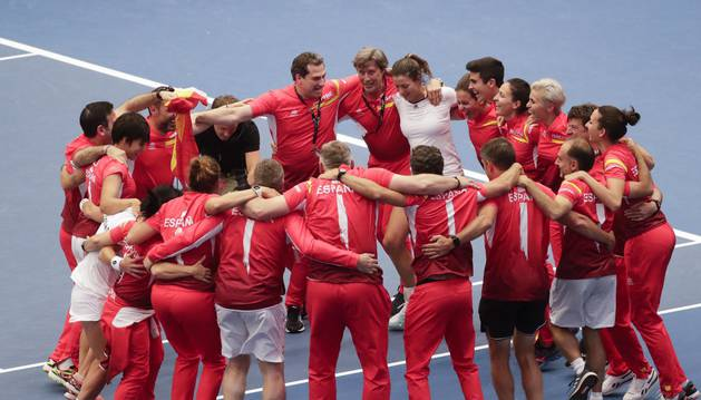 España recupera ante Bélgica una plaza en el Grupo Mundial de la Copa Federación