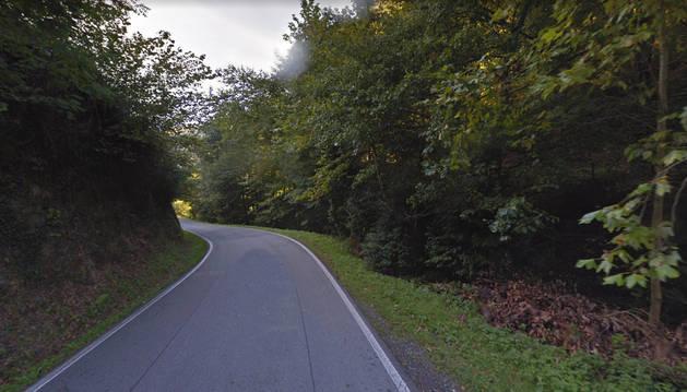 Imagen de la carretera NA 4000, donde se ha producido el accidente.