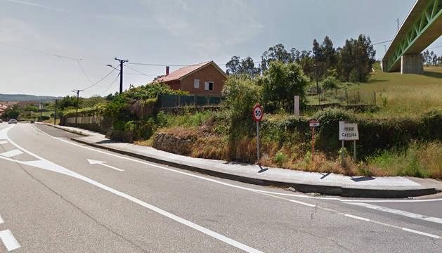Acceso al municipio pontevedrés de Catoira.