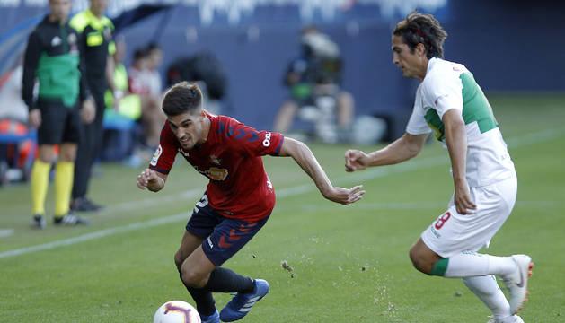 Nacho Vidal, en el partido Osasuna-Elche de la primera vuelta.