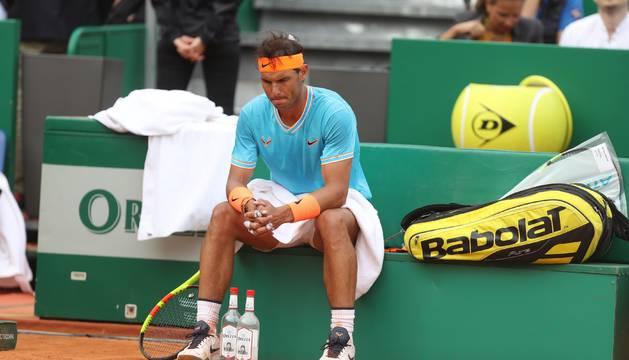 Rafael Nadal, tras perder la semifinal en Montecarlo.
