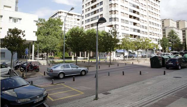 Imagen de archivo de la avenida Comercial de Barañáin.