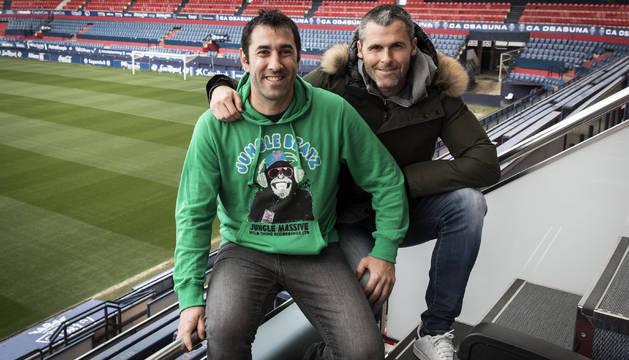 Fran Jusué y Pablo Orbaiz, en El Sadar, lograron con la selección española sub20 el primer título mundial de España hace veinte años.