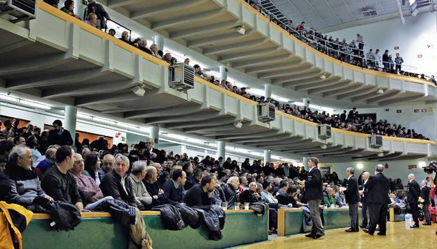 El magnífico aspecto que presentaba el frontón Labrit en uno de los partidos de sábado del pasado Campeonato de Parejas.