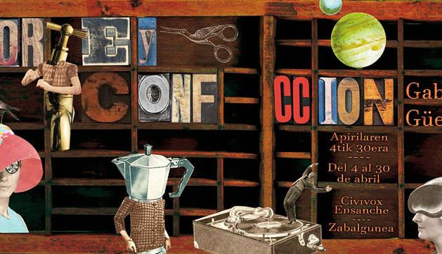 Cartel de la muestra 'Corte y confección' del artista Gabi Güeto.