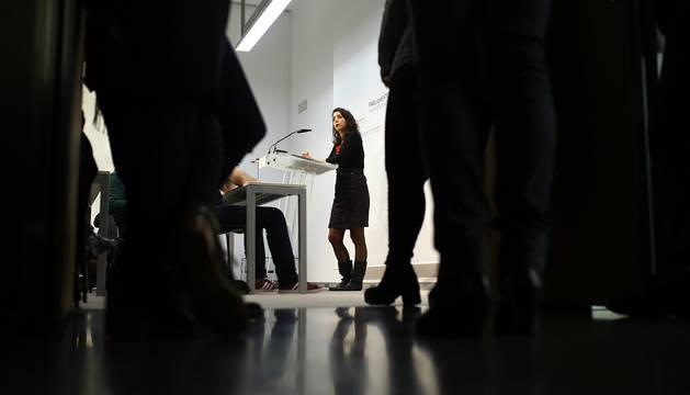 Laura Pérez, líder de Orain Bai, no optará a repetir en el Parlamento al no formar lista a las forales.