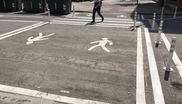 Los nuevos pivotes pretenden dar más seguridad a los peatones en los cruces.