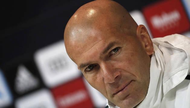 foto de El entrenador del Real Madrid, Zinedine Zidane.