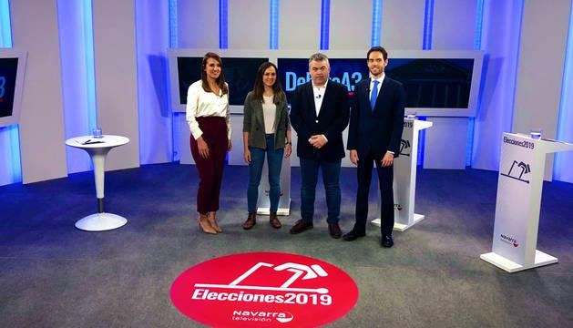 El autogobierno y el convenio económico centran el debate a tres en Navarra TV