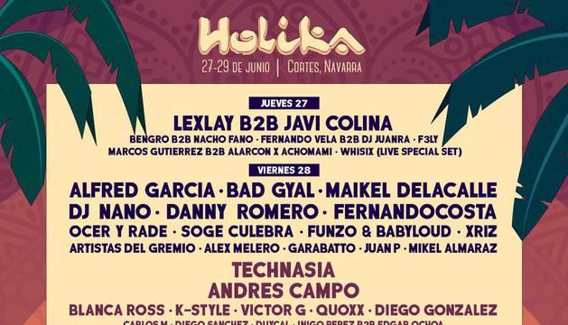 Cartel del festival Holika