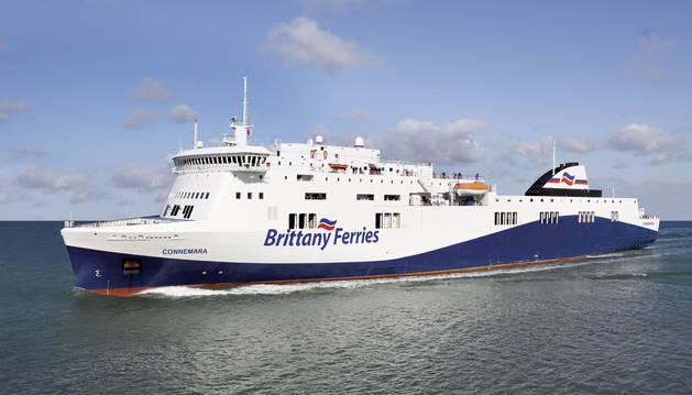 Imagen de uno de los ferris de la compañía británica Brittany Ferries.