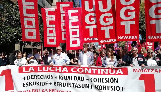 Manifestaciones del 1 de mayo en Pamplona. CALLEJA