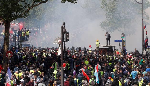 Altercados en París en la manifestación del 1 de mayo