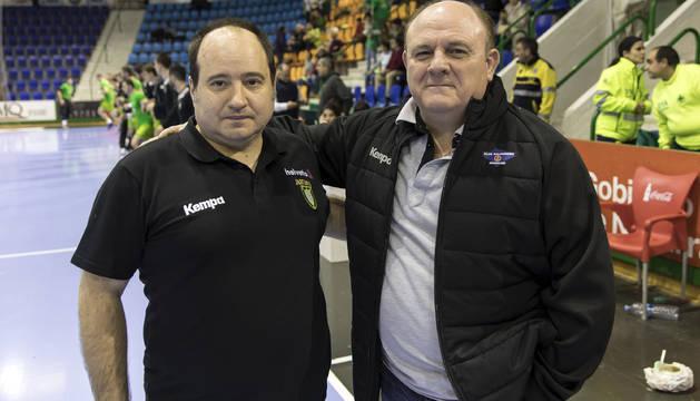 Iñaki Aniz y 'Zupo' Equísoain, técnicos navarros que vuelven a enfrentarse.