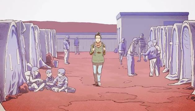 Una imagen del videojuego 'Bury me, my Love'.