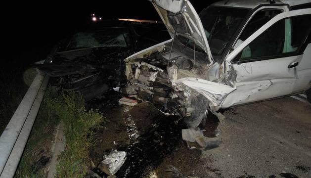 Foto del estado en el que quedó uno de los vehículos implicados.