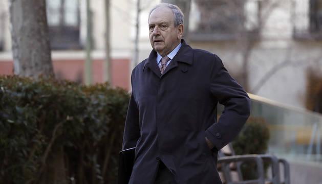 El exsubgobernador del Banco de España Javier Aríztegui, a su llegada a la Audiencia Nacional en 2017.