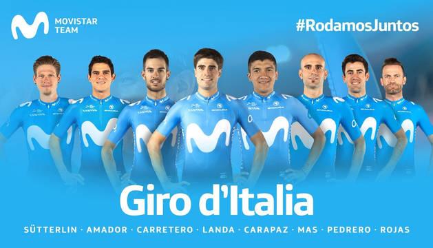 Selección del Movistar Team para el Giro de Italia.