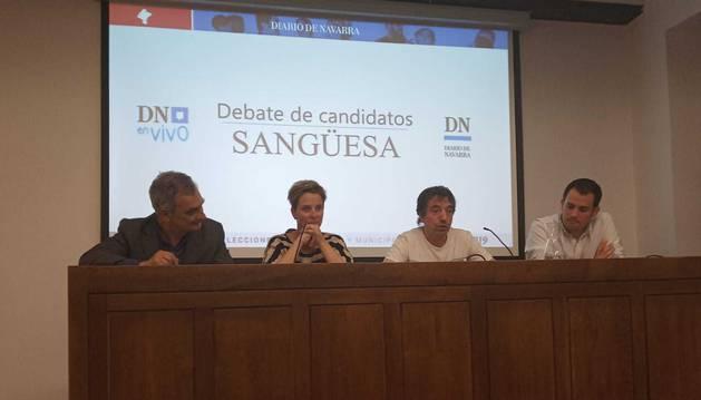 foto de Los candidatos a la Alcaldía de Sangüesa, en el segundo de los debates municipales DN