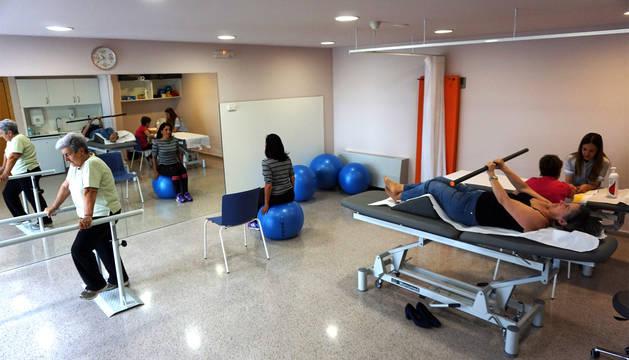 La nueva sala-gimnasio del Centro de Salud de Cintruénigo.