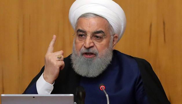 El presidente iraní, Hasan Rohaní, en una reunión del Gobierno en Teherán (Irán).