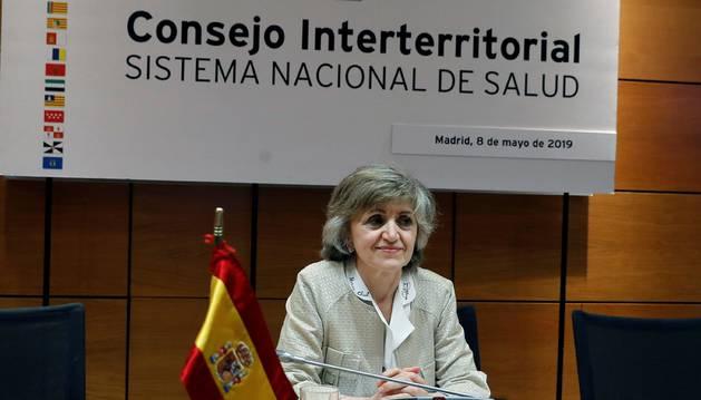 La ministra de Sanidad María Luisa Carcedo, preside la reunión del Consejo Interterritorial de Salud en el que participan los consejeros de las comunidades autónomas.